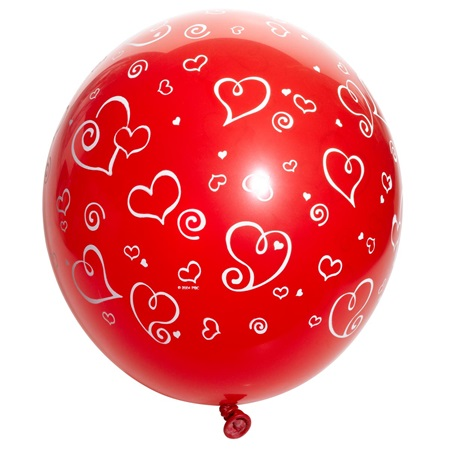 Swirl Heart Latex Balloons