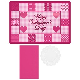 Quilted Hearts Placemat Combo Pack