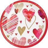 Watercolor Heart Dinner Plates