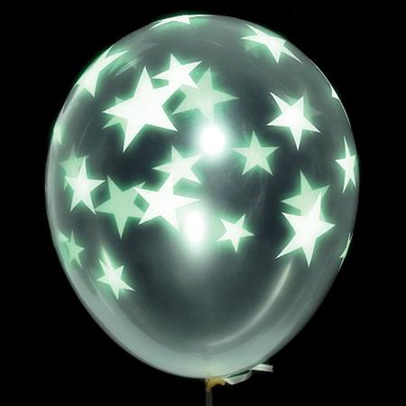 Glow Star Latex Balloons