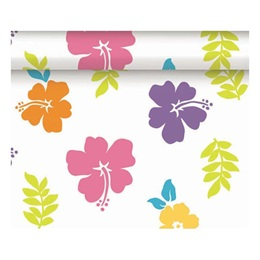 Hibiscus Plastic Table Roll