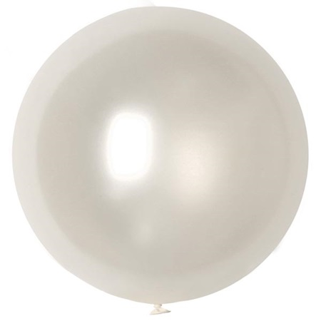 Silk White Latex Balloon