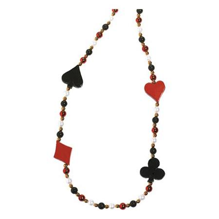 Card Suit Bead Necklace