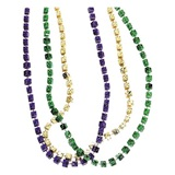 Mardi Gras Dice Bead Necklace