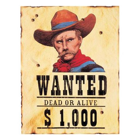 Wanted Dead or Alive Cutout