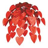Red Foil Heart Hanging Cascade
