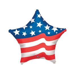 Patriotic Star Metallic Balloon