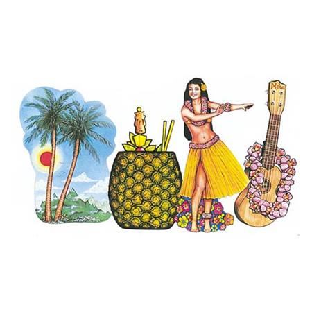Luau Party Cutouts