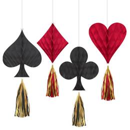 Casino Mini Honeycombs with Tassels