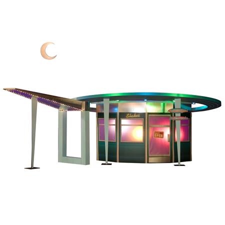 50s Drive-in Diner and Moon Kit