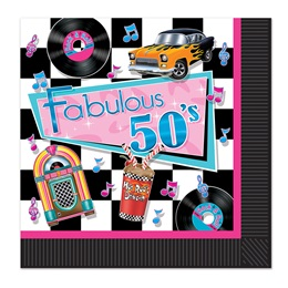 Fabulous 50's Lunch Napkins, 16/pkg