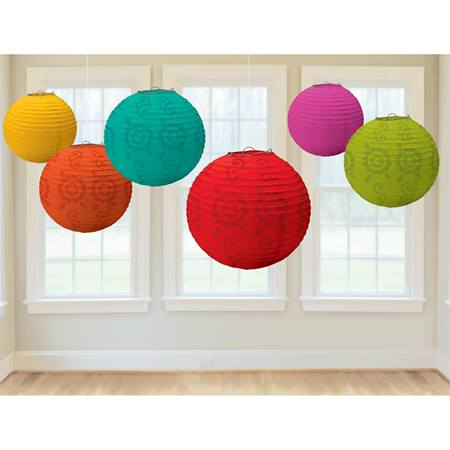 Fiesta Paper Lanterns Value Pack, 6/pkg