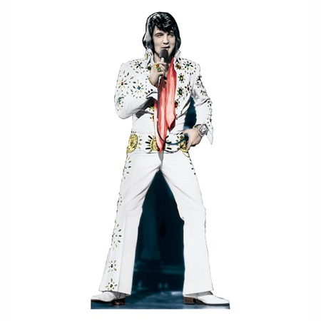 Elvis Presley in White Suit Stand-Up