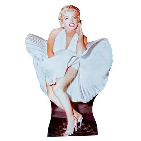 Marilyn Monroe Stand-Up in White Dress