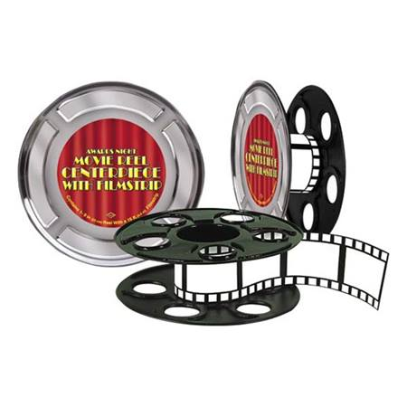 Movie Reel and Filmstrip Centerpiece