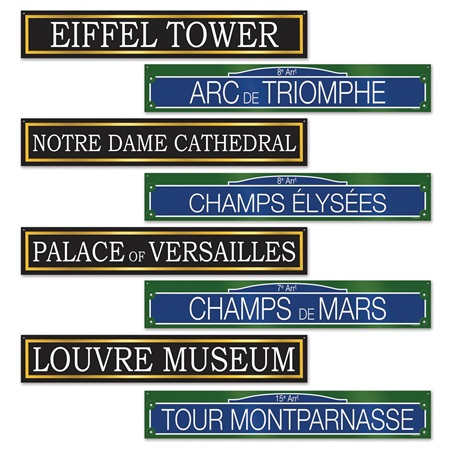 French Street Sign Cutouts