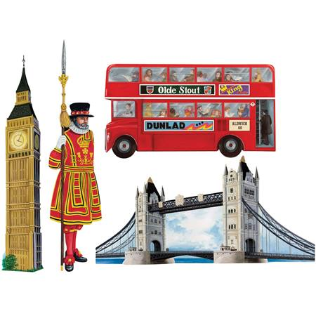 British cutouts m n party store for International theme decor