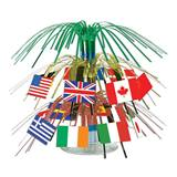 Two-Tiered International Flag Centerpiece