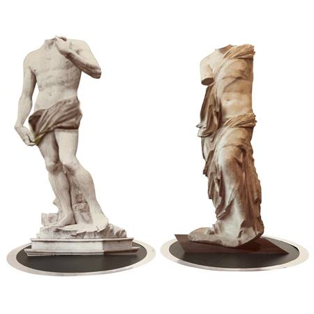Grecian Gallery Statues Kit (set of 2)
