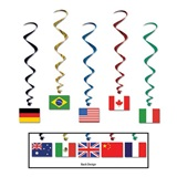 International Flag Danglers