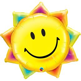 Smiley Sunshine Metallic Balloon