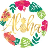 Aloha Metallic Dinner Plates