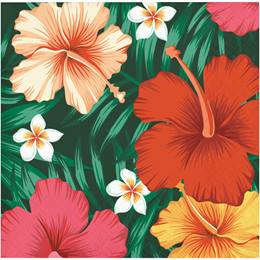 Tropical Flowers Beverage Napkins