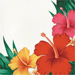 Tropical Flowers Luncheon Napkins