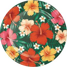 Tropical Flowers Dinner Plates
