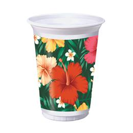 Tropical Flowers Plastic Cups