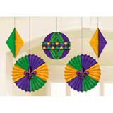 Mardi Gras Honeycombs and Fans Décor Pack