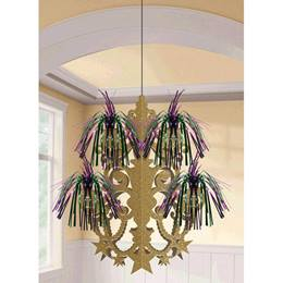 Mardi Gras Firework Chandelier Decoration