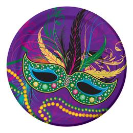 Mardi Gras Masks Lunch Plates