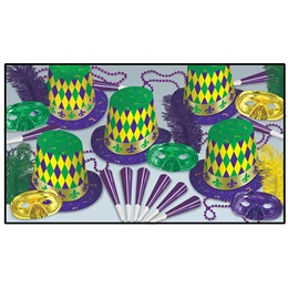 Mardi Gras Party Assortment for 10