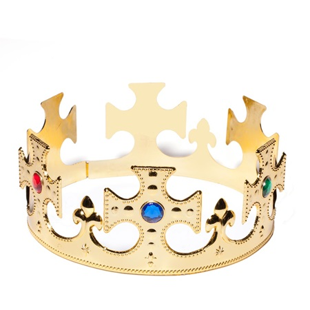 Plastic Jeweled King Crown