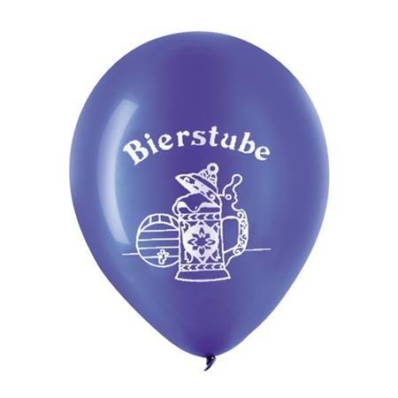 Blue Bierstube Latex Balloons