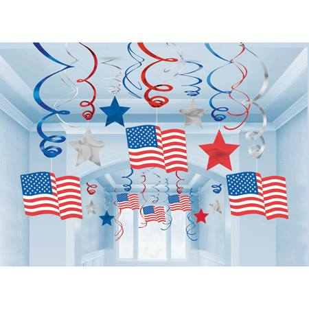 Patriotic Swirl Decor Value Pack