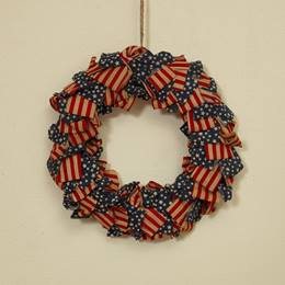 Americana Fabric Wreath