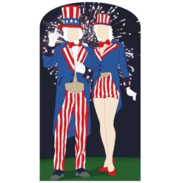 Aunt and Uncle Sam Stand-UP