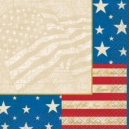 USA Party Beverage Napkins