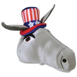 Plush Patriotic Donkey Hat