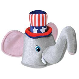 Plush Patriotic Elephant Hat