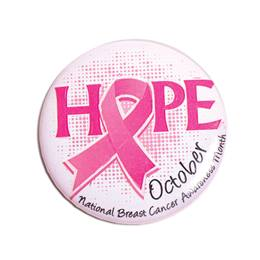 Pink Ribbon Button - Hope