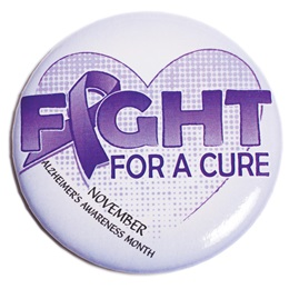 Alzheimers Button - Fight For A Cure