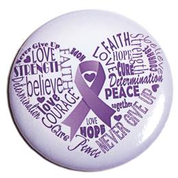 Alzheimers Button - Heart