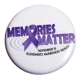 Alzheimers Button - Memories Matter