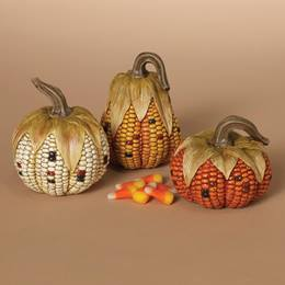 Resin Corn Cob Pumpkin
