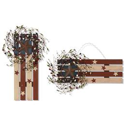 Patriotic Wood Wall Hanging