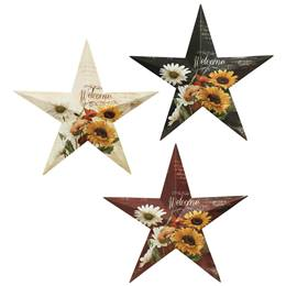 Welcome Botanical Star Wall Hanging