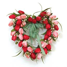 Tulip Heart Wreath